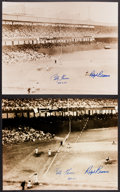 Autographs:Photos, Bobby Thomson And Ralph Branca Dual Signed Oversized PhotographsLot Of 2. ...