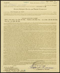 Autographs:Letters, 1964 Ted Williams Signed Life Insurance Policy (Theodore S.Williams Signature)....