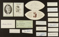 Football Collectibles:Balls, Football Legends Signed Checks, And Cuts Lot Of 17. ...