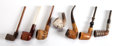 Decorative Arts, Continental:Other , SEVEN CONTINENTAL MEERSCHAUM AND CARVED WOOD PIPES . 19th century .Marks: GENUINE BLOCK MEERSCHAUM, MADE IN TANZANIA. 6...(Total: 7 Items)