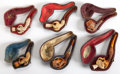 Decorative Arts, Continental, SIX CASED AUSTRIAN MEERSCHAUM PIPES . 19th century . 5 inches long(12.7 cm) (largest). ... (Total: 12 Items)