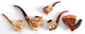 Paintings, FIVE AUSTRIAN MEERSCHAUM PIPES . 19th century . 6-1/2 inches long (16.5 cm) (longest) . ... (Total: 5 Items)