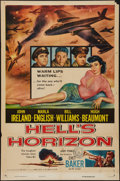 "Movie Posters:War, Hell's Horizon and Other Lot (Columbia, 1955). One Sheets (2) (27""X 41""). War.. ... (Total: 2 Items)"
