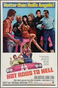 """Movie Posters:Exploitation, Hot Rods to Hell (MGM, 1967). One Sheet (27"""" X 41""""). Exploitation....."""