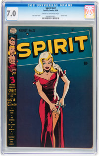 The Spirit #22 (Quality, 1950) CGC FN/VF 7.0 Cream to off-white pages