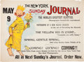 Advertising:Paper Items, The Yellow Kid: New York Sunday Journal Advertising Poster....