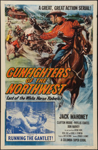 "Gunfighters of the Northwest (Columbia, 1954). One Sheet (27"" X 41"") Chapter 5 -- ""Running the Gauntlet.&..."