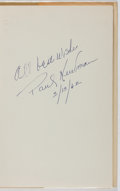 Books:Fiction, Joseph Hayes. SIGNED BY PAUL NEWMAN. The Desperate Hours.Random House, 1955. Book club edition. Signed by actor P...