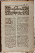 Books:Periodicals, Group of 8 Eighteenth-Century London Newspapers. Includes one issueof The London Chronicle and seven issues of The Lo...