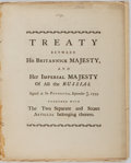 Books:World History, [Great Britain]. Treaty Between His Britannick Majesty, and Her Imperial Majesty of All the Russias. [n. p.], 17...