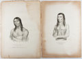 Books:Prints & Leaves, Thomas L McKenney. and James Hall. Group of Two Original Printsfrom History of the Indian Tribes of North America. ...