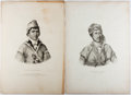 Books:Prints & Leaves, Thomas L McKenney. and James Hall. Group of Two Original Printsfrom History of the Indian Tribes of North America....