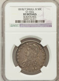 Bust Half Dollars: , 1818/7 50C Small 8 -- Scratched -- NGC Details. XF. O-102a. NGCCensus: (18/195). PCGS Population (13/93). Numismedia Wsl...