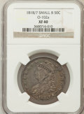 Bust Half Dollars: , 1818/7 50C Small 8 XF40 NGC. O-102a. NGC Census: (18/195). PCGSPopulation (13/93). Numismedia Wsl. Price for problem fre...