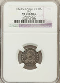 Bust Dimes: , 1823/2 10C Large Es -- Damaged -- NGC Details. VF. JR-3. PCGSPopulation (3/37). (#4499)...