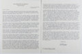 Autographs:Military Figures, Hyman G. Rickover (1900-1986, US Navy Four-Star Admiral). Typed Letter Signed. 3 pages. Includes COA from EAC Gallery. Fine....