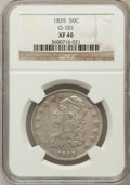 Bust Half Dollars, 1835 50C XF40 NGC. O-101. NGC Census: (46/687). PCGS Population(103/643). Mintage: 5,352,006. Numismedia Wsl. Price for pr...