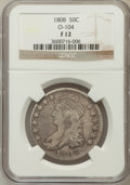 Bust Half Dollars, 1808 50C Fine 12 NGC. O-104. NGC Census: (16/425). PCGS Population(18/579). Mintage: 1,368,600. Numismedia Wsl. Price for ...