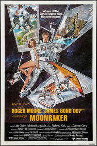 "Moonraker (United Artists, 1979). International One Sheet (27"" X 41"") Style B. James Bond"