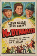 "Movie Posters:Mystery, Mr. Dynamite (Universal, 1941). One Sheet (27"" X 41""). Mystery....."