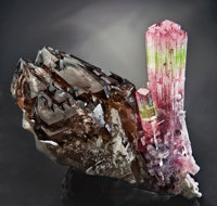 TOURMALINE AND SMOKY QUARTZ
