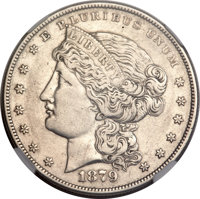 """1879 $1 Metric Dollar, Judd-1617, Pollock-1813, R.4 -- Improperly Cleaned -- NGC Details. Proof, """"XF.""""...(PCGS..."""