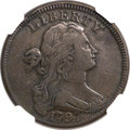 Large Cents, 1797 1C Reverse of 1797, Stems VF30 NGC. S-142, B-32, R.5....
