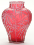 Art Glass:Tiffany , A WEBB CAMEO GLASS VASE . Stourbridge, England, circa 1900. 5inches high (12.7 cm). ...