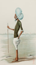 "Prints, BRITISH ARTIST (19th Century). ""Patiala"", Sir Rajinder SinghMahinder Bahadur, Maharaja of Patiala, January 4, 1900. Van..."