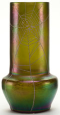Art Glass:Other , A BOHEMIAN GLASS AND ENAMEL VASE . Circa 1900. 8 inches high (20.3cm). ...