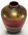 Art Glass:Other , A WELLER GLASS LASA VASE . Zanesville, Ohio, circa 1920.Marks: WELLER, LASA. 5-3/4 inches high (14.6 cm). ...