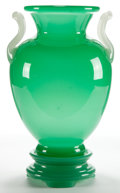 Art Glass:Steuben, A FREDERICK CARDER STEUBEN JADE GLASS VASE . Corning, New York,circa 1920. 10-1/2 inches high (26.7 cm) (vase). ...