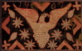 Rugs & Textiles:Hook Rugs, AN AMERICAN PRIMITIVE-STYLE HOOKED RUG . Circa 1907. 25 inches highx 40 inches wide (63.5 x 101.6 cm). Elton Hyder III Co...