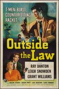 """Movie Posters:Crime, Outside the Law (Universal International, 1956). One Sheet (27"""" X 41""""). Crime.. ..."""
