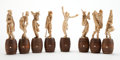 Decorative Arts, Continental:Other , A SET OF EIGHT CONTINENTAL IVORY MUSICAL FIGURES . Late 19thcentury. 6-3/4 inches high (17.1 cm) (tallest). ... (Total: 8Items)