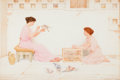 Fine Art - Work on Paper:Watercolor, GEORGE LAWRENCE BULLEID (British, 1858-1933). A Columbarium, 1898. Watercolor on paper. 12-1/4 x 19 inches (31.1 x 48.3 ...