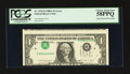 Error Notes:Inverted Third Printings, Fr. 1915-D $1 1988A Federal Reserve Note. PCGS Choice About New58PPQ.. ...
