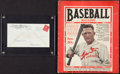 Baseball Collectibles:Others, 1930 Rogers Hornsby Signed Envelope with 1926 Baseball Magazine....