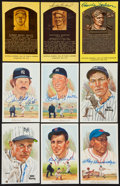 Baseball Collectibles:Others, Baseball Hall of Famers Signed Postcards Lot of 9....