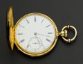 Timepieces:Pocket (pre 1900) , Patek Philippe Early 18k Gold 50 mm Hunters Case, circa 1867. ...
