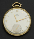 Timepieces:Pocket (post 1900), Omega Gent's Gold Filled Pocket Watch. ...