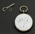 Timepieces:Pocket (pre 1900) , Swiss Double Time Zone Captain's Watch. ...