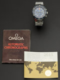 Timepieces:Wristwatch, Omega 176.004 Steel Automatic Seamaster Chronograph With Papers,circa 1974. ...