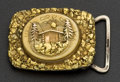 Estate Jewelry:Other , Unusual Gold Belt Buckle With Gold Nuggets. ...