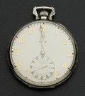 Timepieces:Pocket (post 1900), Elgin 14k White Gold 12 Size. ...