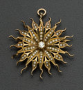 Estate Jewelry:Brooches - Pins, Antique Gold Snowflake Pin/Pendant. ...