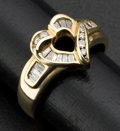 Estate Jewelry:Rings, Charming Gold & Diamond Heart Ring. ...