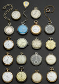 Timepieces:Pocket (post 1900), A Lot Of Eighteen 12 Size U.S. & Swiss Pocket Watches. ...(Total: 18 Items)
