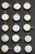 Timepieces:Pocket (post 1900), A Lot Of Fifteen American Pocket Watches All Runners. ... (Total: 15 Items)