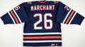 Hockey Collectibles:Uniforms, 1998-99 Todd Marchant Game Worn Edmonton Oilers Jersey. ...